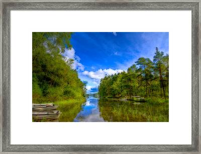 Lake With Beautiful Surroundings Framed Print by Tommytechno Sweden