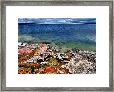 Lake Yellowstone Framed Print by Ellen Heaverlo