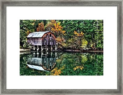 Lakebay Autumn Framed Print