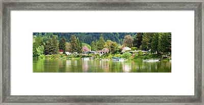 Lakefront Properties, Woodland Framed Print by Panoramic Images