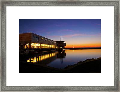 Framed Print featuring the photograph Lakefront Sunrise by Jonah  Anderson