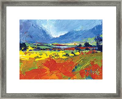 Lakeland Splash Framed Print by Neil McBride