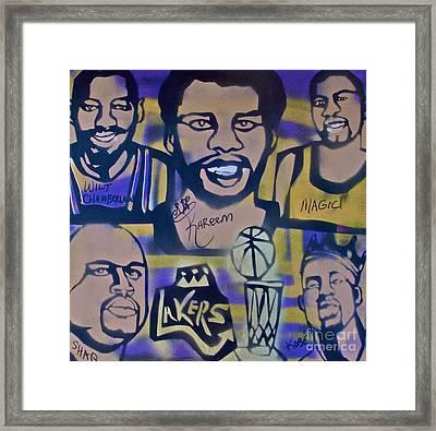 Laker Love Framed Print by Tony B Conscious