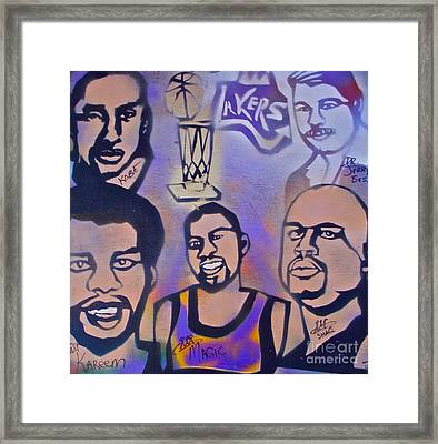 Lakers Love Jerry Buss 1 Framed Print