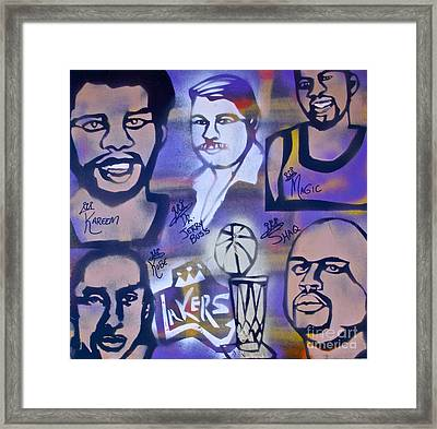 Lakers Love Jerry Buss 2 Framed Print