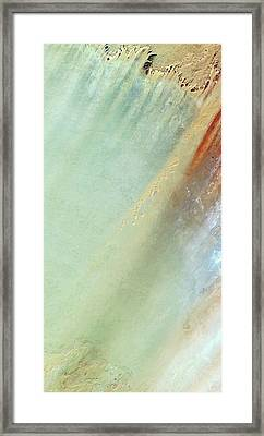Lakes Of Ounianga Framed Print by Infoterra Ltd
