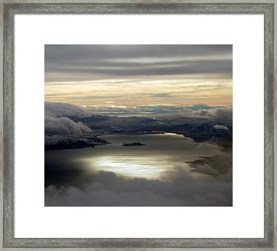 Lakescape Framed Print by Mamie Gunning
