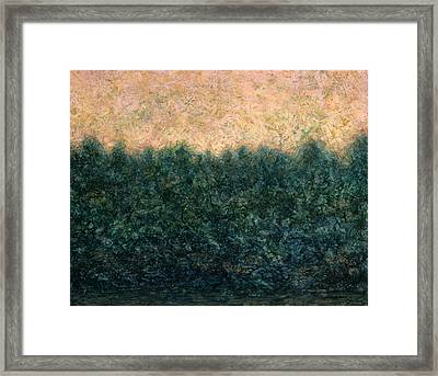 Lakeshore Sunrise Framed Print by James W Johnson
