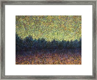 Lakeshore Sunset Framed Print