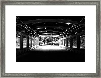 Lakeshore Tunnel Framed Print by Robert  FERD Frank