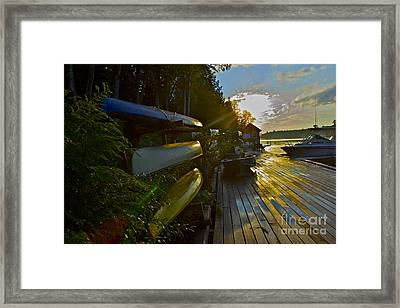 Framed Print featuring the photograph Lakeside by Alice Mainville