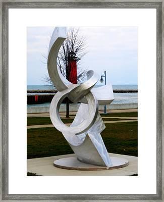 Lakeside Art Framed Print