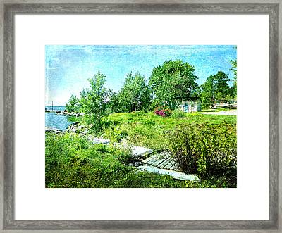 Lakeside Charm Framed Print by Dianne  Lacourciere