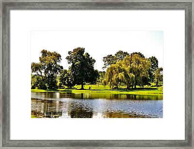 Lakeside Framed Print by Christopher Hoffman