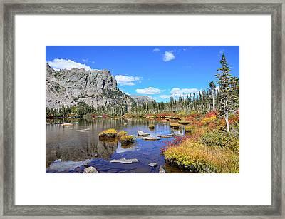 Lakeside Color Framed Print