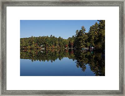 Lakeside Cottage Living - Reflecting On Relaxation Framed Print