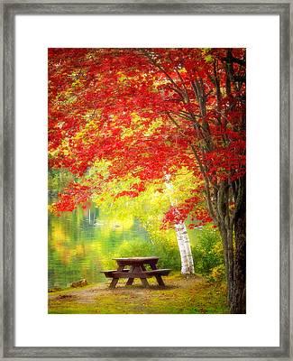 Lakeside Haven Framed Print