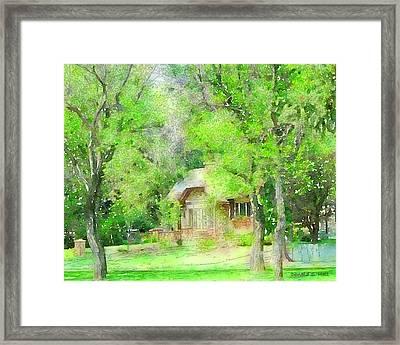Lakeside House Framed Print