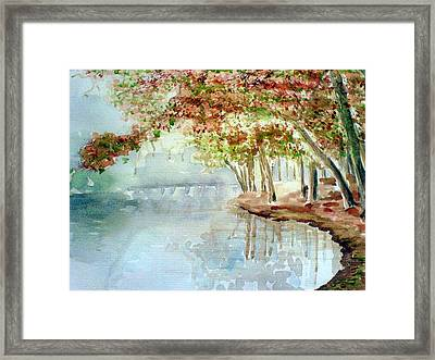 Lakeside In The Carolinas Framed Print