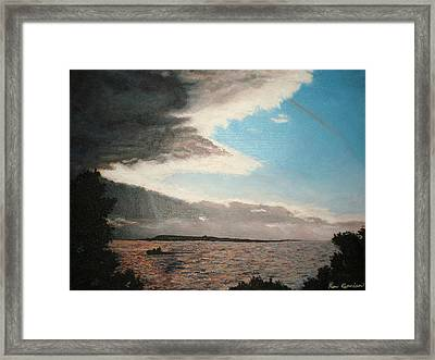 Lakeside Framed Print by Kim Cyprian