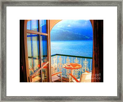 Framed Print featuring the photograph Lakeside Morning Light by Andreas Thust