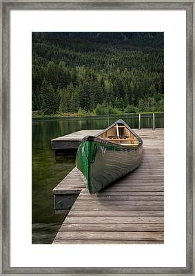 Framed Print featuring the photograph Lakeside Peace by Jacqui Boonstra