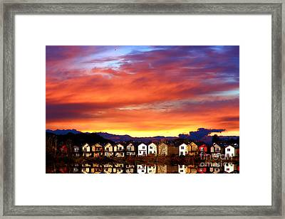 Lakeside Reflections Framed Print by Nick Gustafson