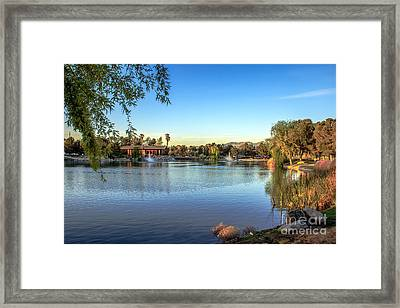 Lakeside Rv Park Framed Print by Robert Bales