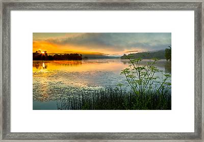 Lakeside Sunrise Framed Print by Bill Wakeley