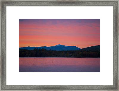 Framed Print featuring the photograph Lakeside Sunset by Larry Landolfi