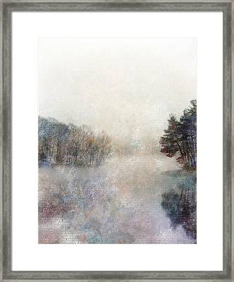 Framed Print featuring the digital art Lakeside Vertical by Bruce Rolff