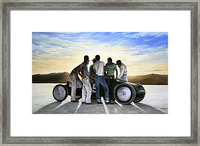 Lakester At Dawn Framed Print