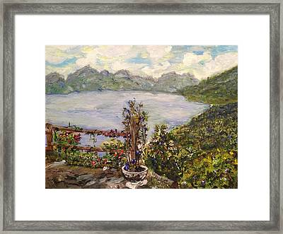 Framed Print featuring the painting Lakeview by Belinda Low