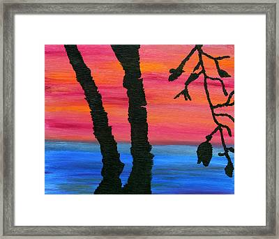 Lakeview Sunset Framed Print