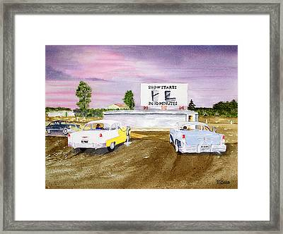 Lakevue Drive In Theater Framed Print