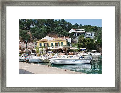 Lakka Harbour On Paxos Framed Print