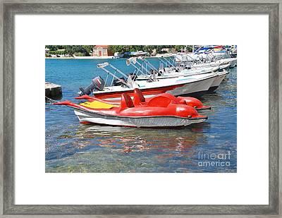 Lakka Harbour Paxos Framed Print