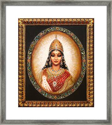 Lakshmi Goddess Of Abundance Framed Print by Ananda Vdovic