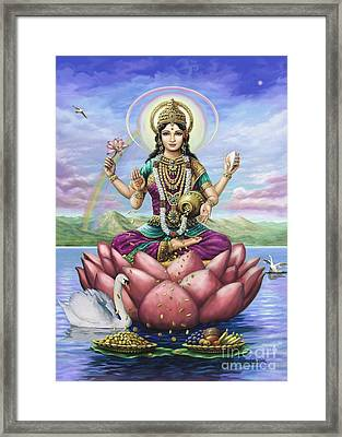 Lakshmi Goddess Of Fortune Framed Print