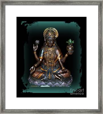Lakshmi Hindu Goddess Framed Print by Eva Thomas