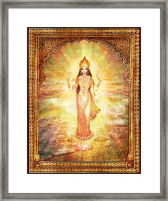 Lakshmi The Goddess Of Fortune And Abundance Framed Print