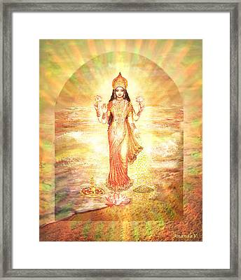 Lakshmis Birth From The Milk Ocean Framed Print
