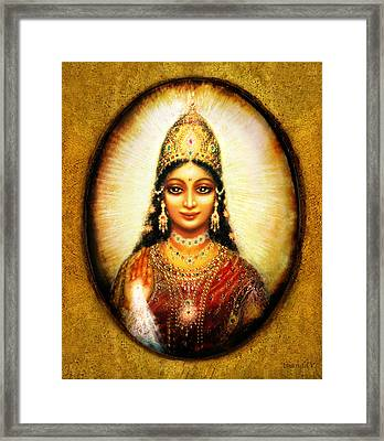 Lakshmis Blessing Framed Print by Ananda Vdovic
