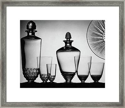 Lalique Glassware Framed Print by The 3