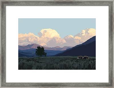 Lamar Distant Thunder Clouds Framed Print