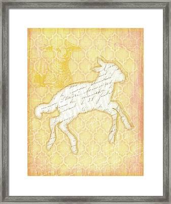 Lamb Framed Print by Jennifer Pugh