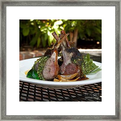 Lamb Framed Print by New  Orleans Food