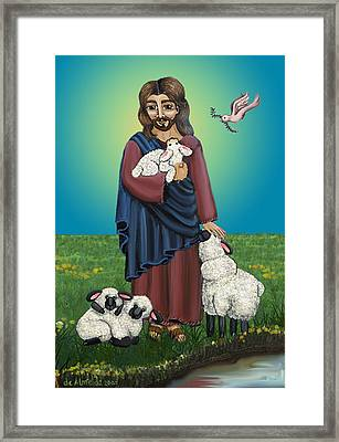 Lamb Of God Framed Print by Victoria De Almeida