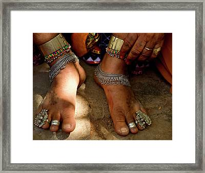 Lambani Gypsy Tribals, Forest Dwellers Framed Print