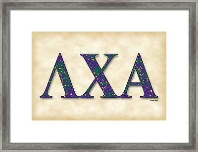 Lambda Chi Alpha - Parchment Framed Print